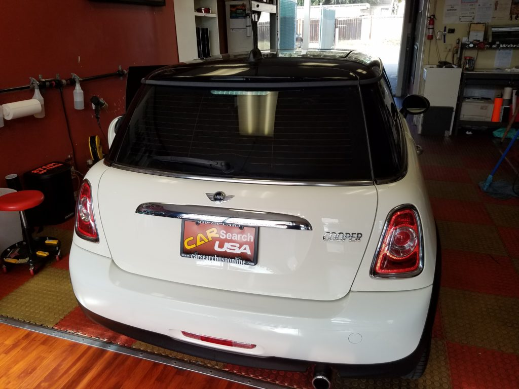 Mini Cooper back window tint